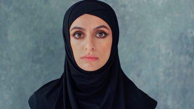 不機嫌なムスリム女性