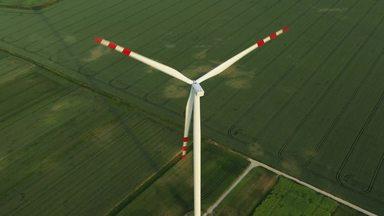 上空からの風力発電機