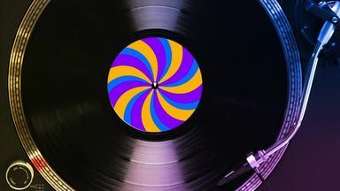 真上から見たレコードプレイヤー