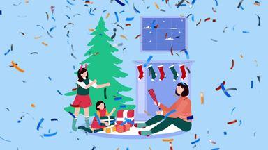 親子3人のクリスマス