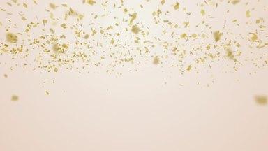 金色の紙吹雪